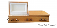 Eco Oak Casket open