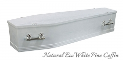 Natural Eco White Pine Coffin