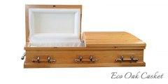 Eco Oak Casket open