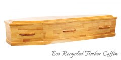 Eco Recycled Timber Coffin