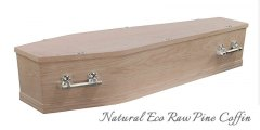 Natural Eco Raw Pine Coffin