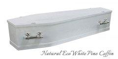 Natural Eco White Pine Coffin