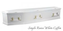 Single Raise White Coffin